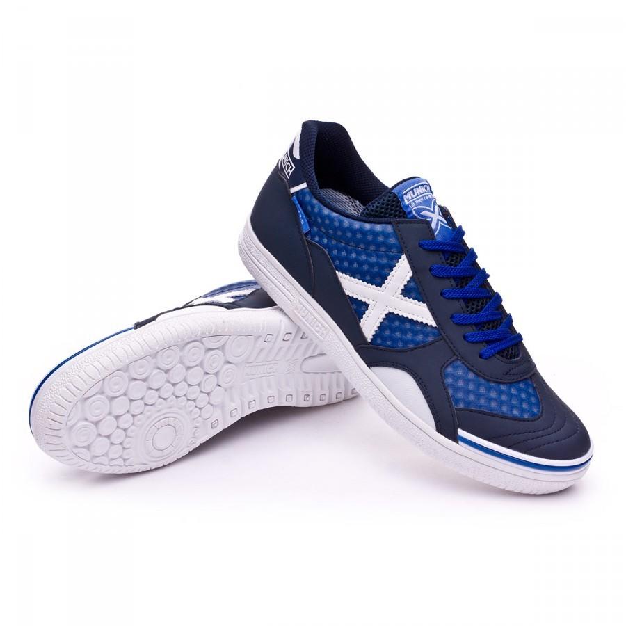 86b2a9a47 Futsal Boot Munich G3.5 x-feel Navy blue-White - Football store ...