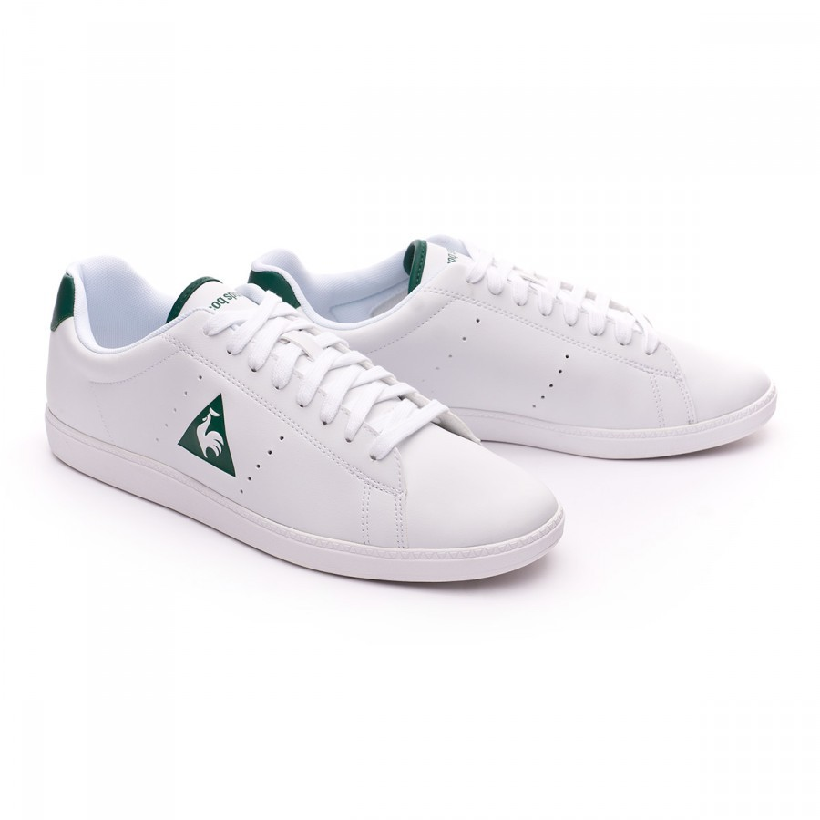 f0f79c591f5e Trainers Le coq sportif Courtone Syn Lea Optical white-Evergreen ...