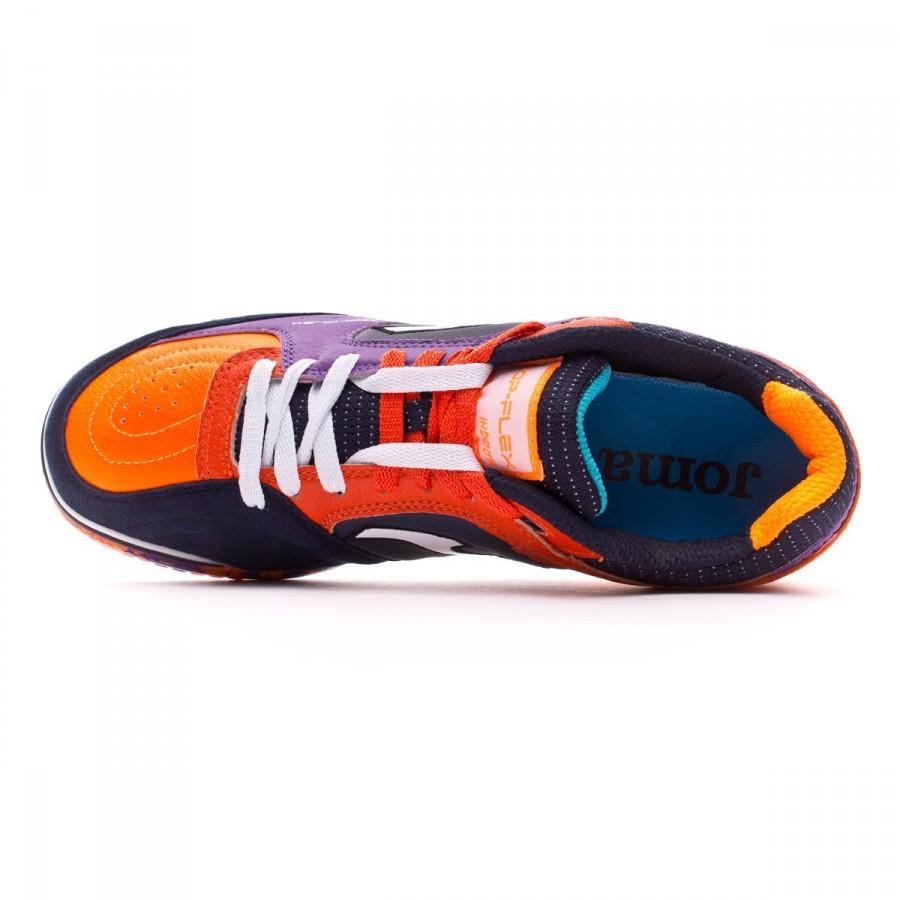 Joma Zapatilla Top Flex Morado-Negro-Naranja Talla 11,5 USA