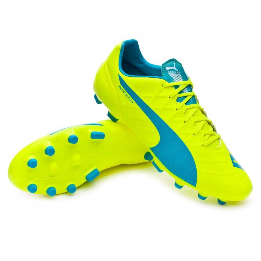 5af93faa82 Bota de fútbol Puma evoSPEED 4.4 AG Safety yellow-Atomic blue-White -  Soloporteros es ahora Fútbol Emotion