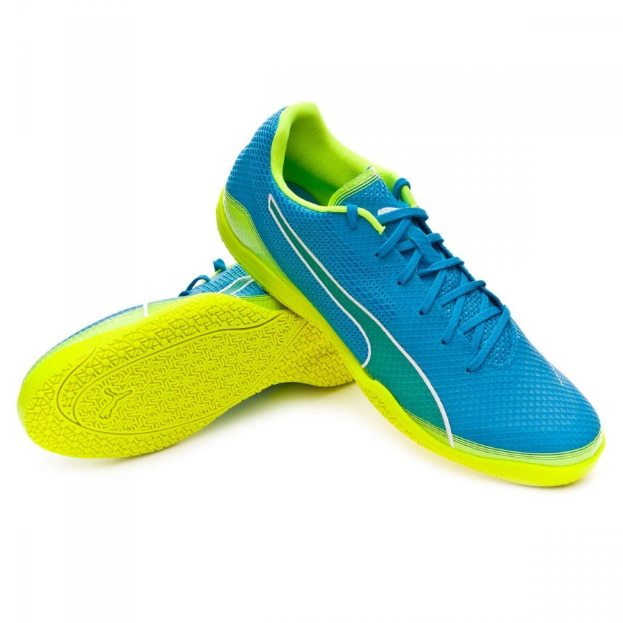 3db4ba1fe4 Sapatilha de Futsal Puma Invicto Fresh Atomic blue-Safety yellow-White -  Loja de futebol Fútbol Emotion