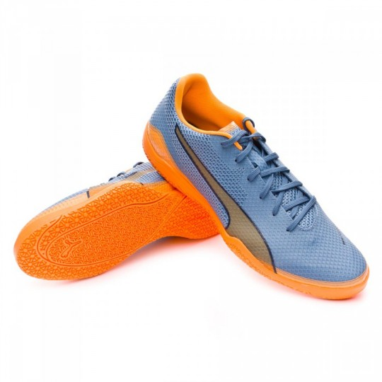 Chaussure de futsal  Puma Invicto Fresh Blue heaven-Orange pop-Blue wing teal