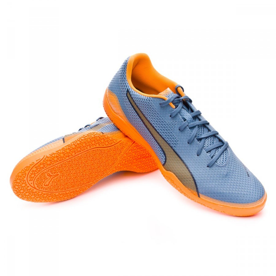 e6940b8303 Sapatilha de Futsal Puma Invicto Fresh Blue heaven-Orange pop-Blue wing  teal - Loja de futebol Fútbol Emotion