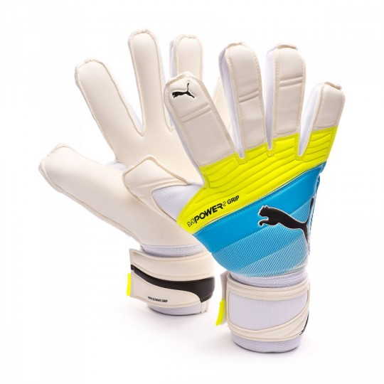 Guante  Puma evoPOWER Grip 2.3 RC White-Atomic blue-Safety yellow