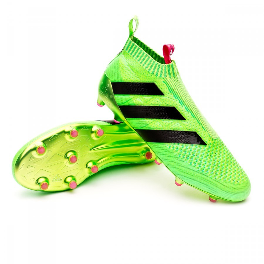 best quality 5e68f 28d69 Chaussure de foot adidas Ace 16+ Purecontrol FGAG Solar green - Boutique  de football Fútbol Emotion