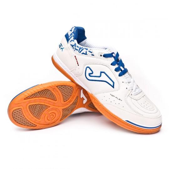 Chaussure de futsal  Joma Top Flex Blanc-Bleu