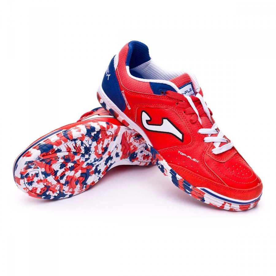 b18ae9b84a Sapatilha de Futsal Joma Top Flex Vermelho-Branco-Azul - Loja de futebol  Fútbol Emotion
