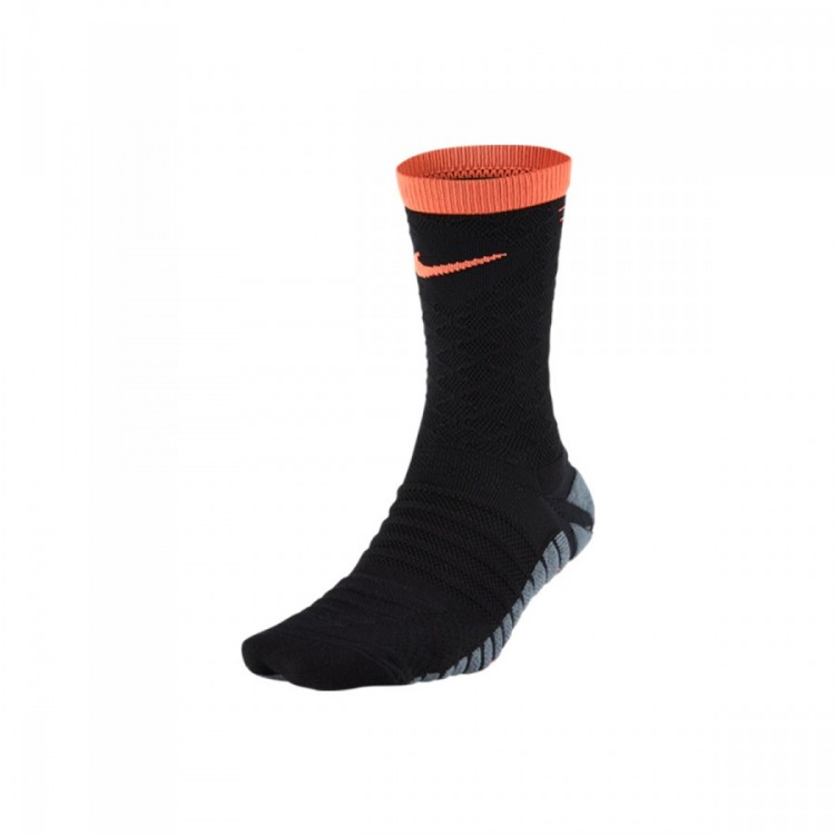 Nike Strike Tiempo Crew Black/Hyper Orange Soccer Socks