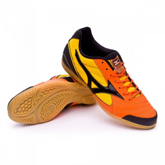 Sapatilha de Futsal  Mizuno Sala Club 2 IN Vibrant orange-Black