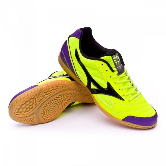 Chaussure de futsal  Mizuno Club 2 IN Safety yellow-Black-Purple