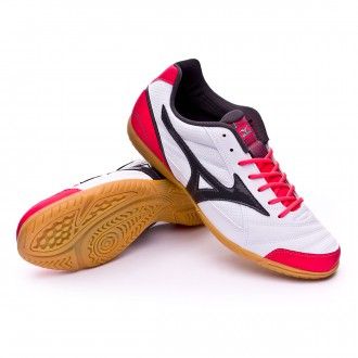Sapatilha de Futsal  Mizuno Sala Club 2 IN White-Dark shadow-Dive pink