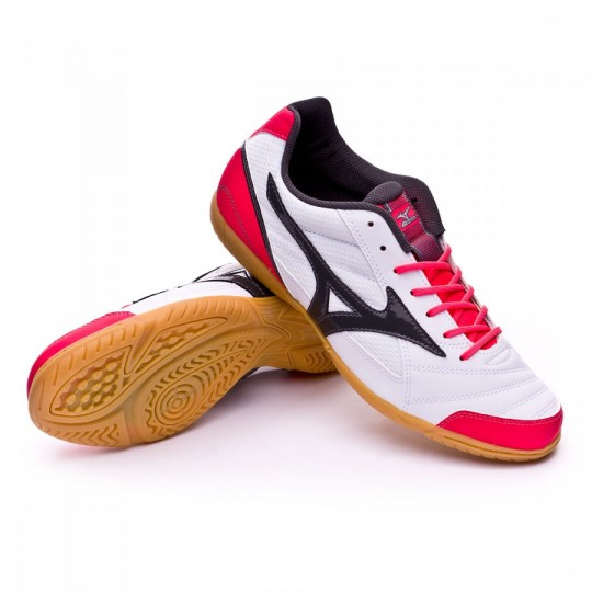 Sapatilha de Futsal  Mizuno Club 2 IN White-Dark shadow-Dive pink