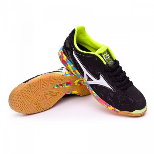 Sapatilha de Futsal  Mizuno Sala Premium IN Black-White-Safety yellow