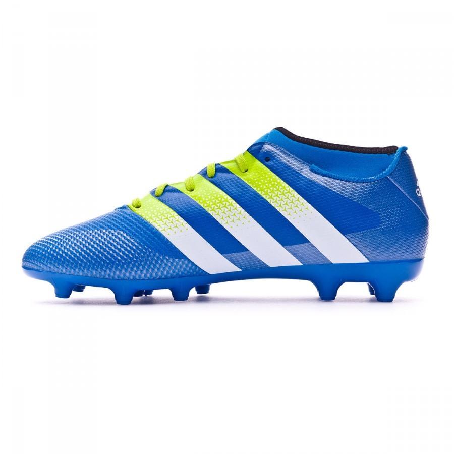 sports shoes 1fa55 04adf Bota de fútbol adidas Ace 16.3 Primemesh FG AG Shock blue-Semi solar  slime-White - Soloporteros es ahora Fútbol Emotion