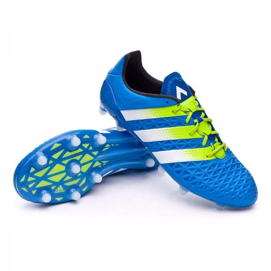 half off 0b110 493ed Boot adidas Ace 16.1 FG AG Shock blue-Semi solar slime-White ...