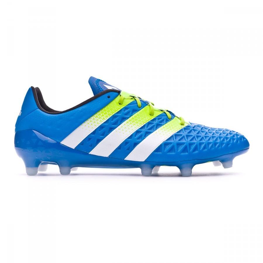 36c2761f16 Chuteira adidas Ace 16.1 FG AG Shock blue-Semi solar slime-White - Loja de  futebol Fútbol Emotion