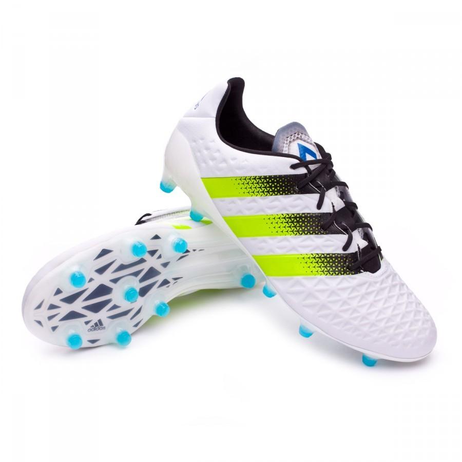 ae152a3b69e2 Football Boots adidas Ace 16.1 FG AG White-Semi solar slime-Shock ...