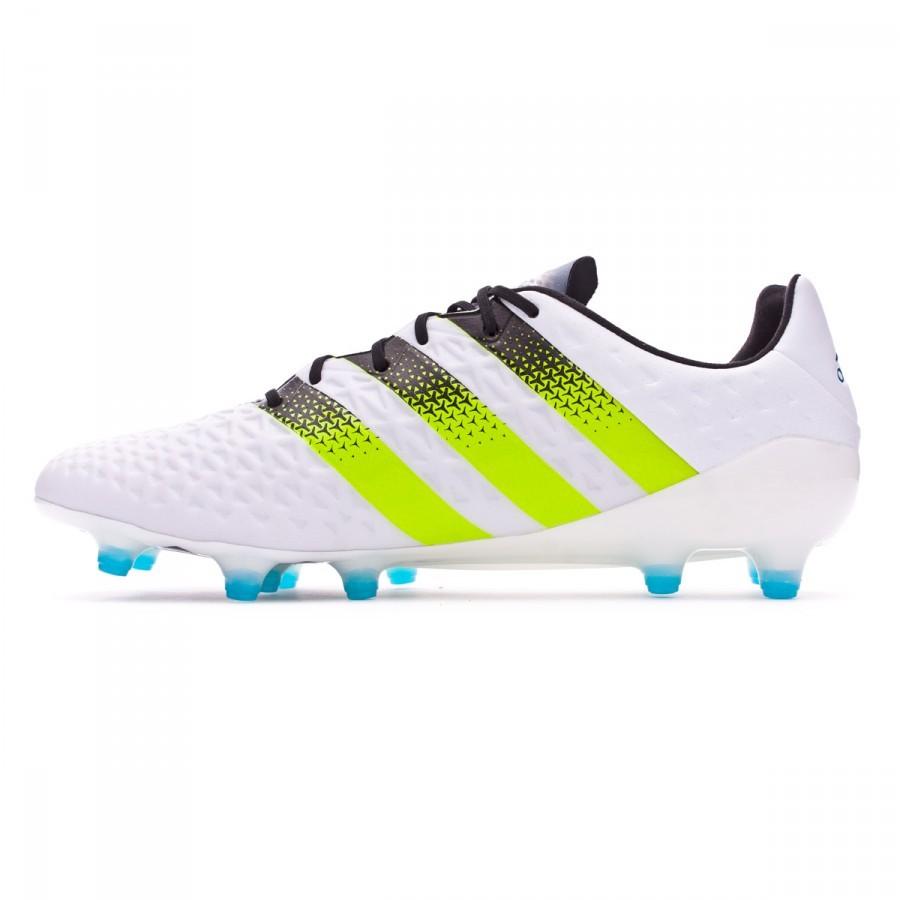 878323733ece Boot adidas Ace 16.1 FG AG White-Semi solar slime-Shock blue - Soloporteros  es ahora Fútbol Emotion