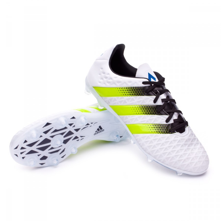 6c7a706641b5 Football Boots adidas Ace 16.2 FG AG White-Semi solar slime-Shock ...