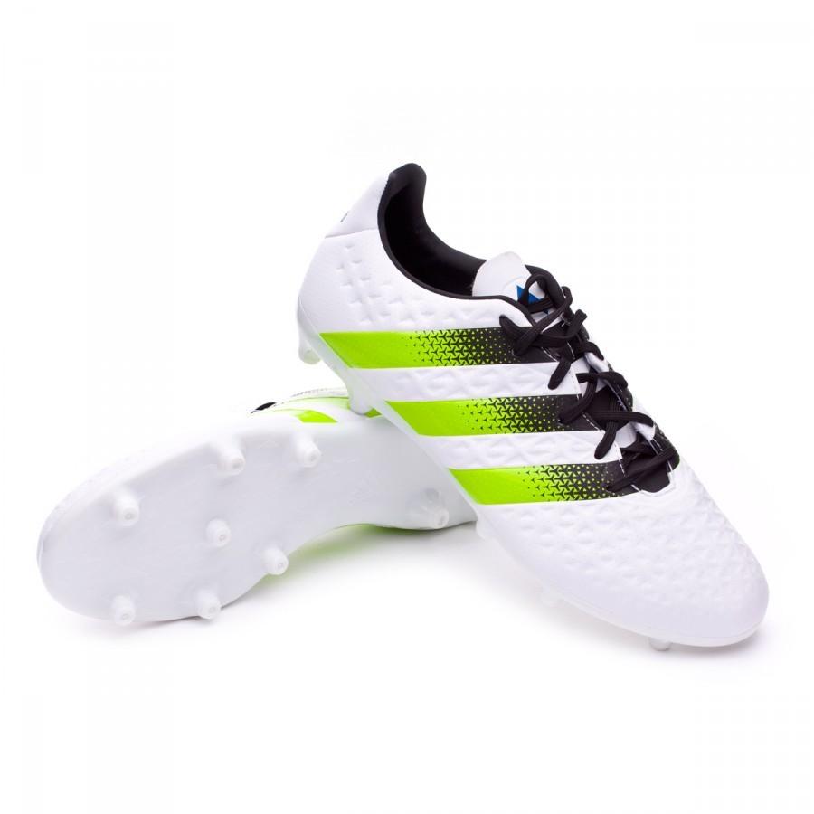 Boot adidas Ace 16.3 FG AG White-Semi solar slime-Shock blue - Football  store Fútbol Emotion d7873db8fcd3