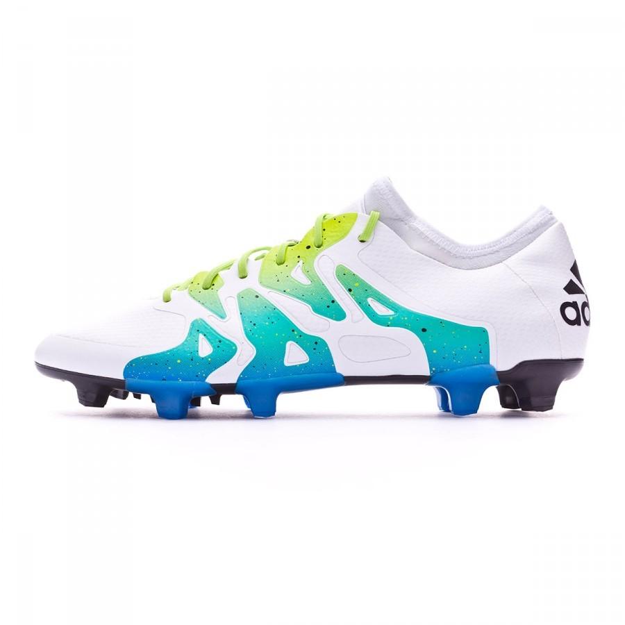 0018b23f9f49 Football Boots adidas X 15.1 FG AG Crystal white-Core black-Semi solar  slime - Football store Fútbol Emotion