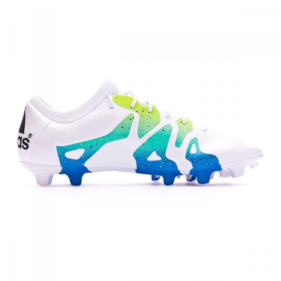 00029bf62096 Football Boots adidas X 15.2 FG AG Crystal white-Core black-Semi solar  slime - Football store Fútbol Emotion