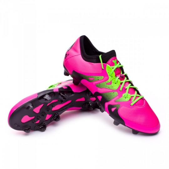 Chaussure  adidas X 15.1 FG/AG Shock pink-Solar green-Core black