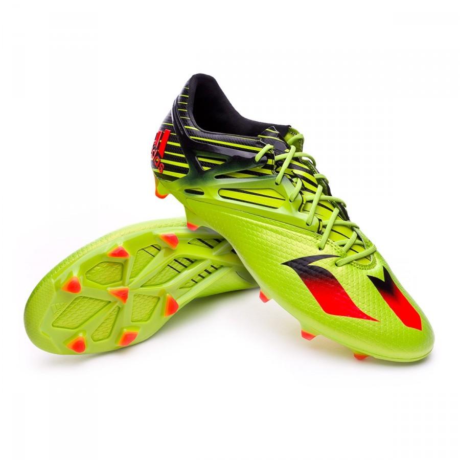 Bota de fútbol adidas Messi 15.1 FG AG Semi solar slime-Solar red-Core  black - Leaked soccer 550a68becfc00