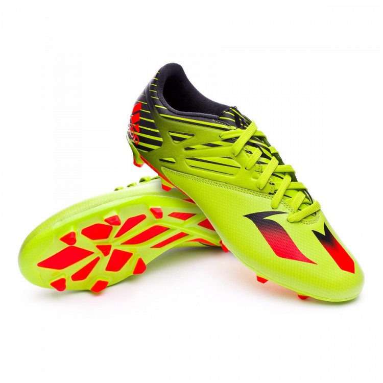 Boot adidas Messi 15.3 FG AG Semi solar slime-Solar red-Core black ... dcfafef944a81