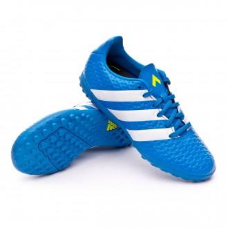 Bota  adidas jr Ace 16.4 Turf Shock blue-Semi solar slime-White