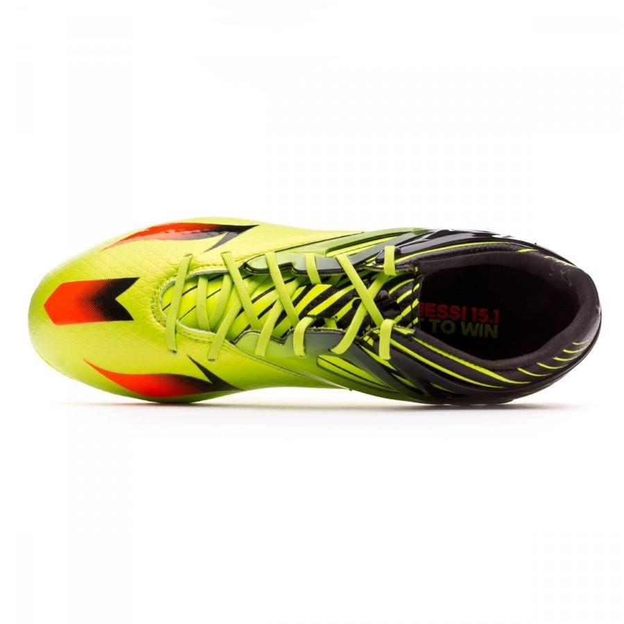 be4f97da8 Football Boots adidas Kids Messi 15.1 Semi solar slime-Solar red-Core black  - Tienda de fútbol Fútbol Emotion