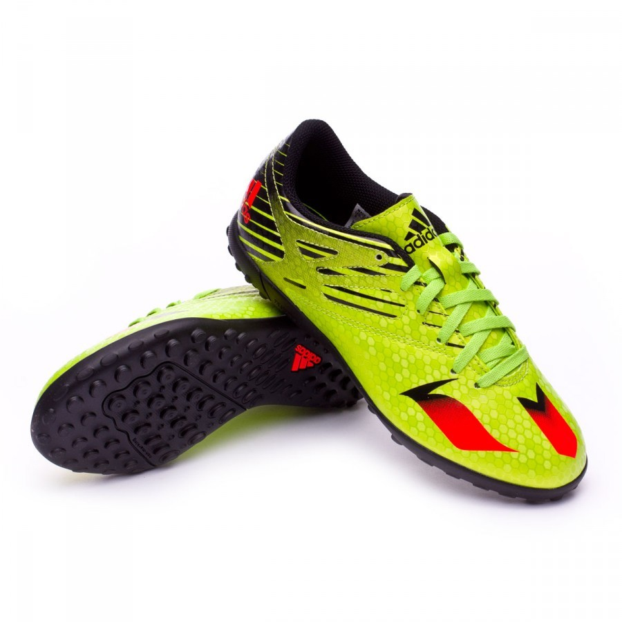 4cd84692b3cd adidas Jr Messi 15.4 Turf Football Boots. Semi solar slime-Solar red-Core  ...