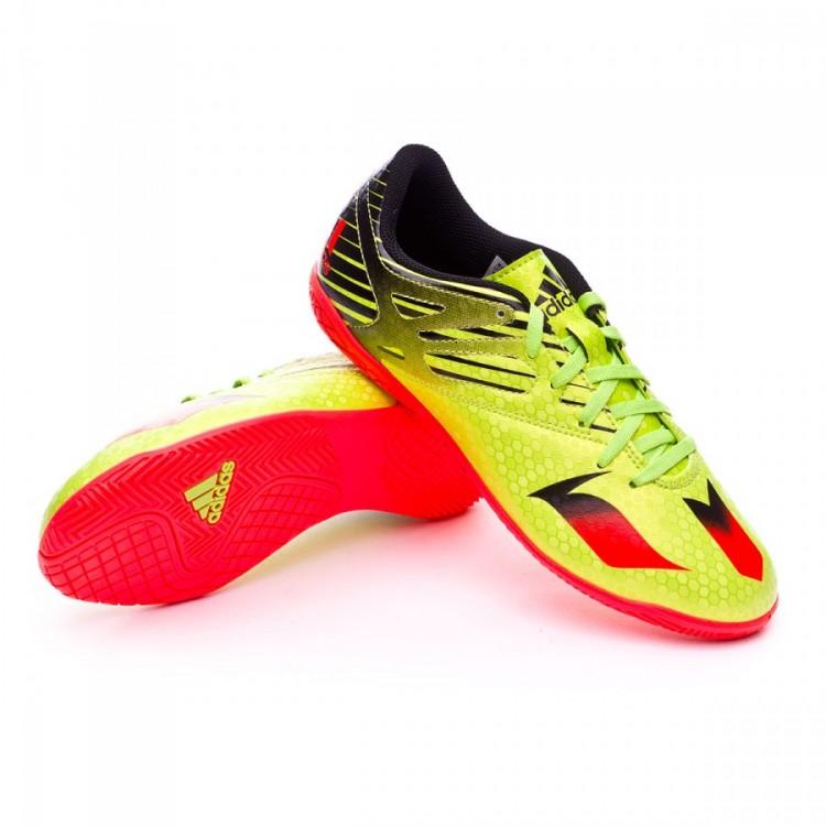 683abde4d20 Futsal Boot adidas Jr Messi 15.4 IN Semi solar slime-Solar red-Core ...