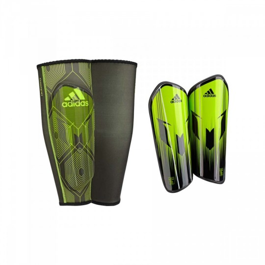 Espinillera  adidas Messi 10 Pro Semi solar slime-Solar red