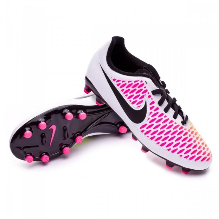 Zapatos de fútbol Nike Magista Onda FG Niño White-Pink blast-Volt ... 61dfc30a8da82