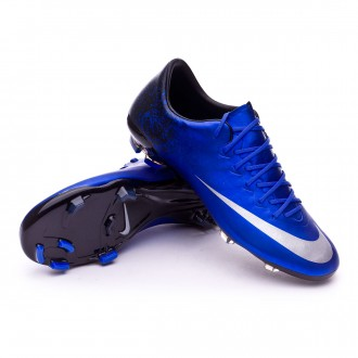 Kids Mercurial Vapor X CR ACC FG Royal blue-Metallic silver-Black