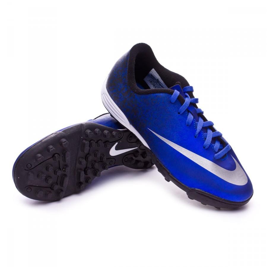 Boot Nike Jr Mercurial Vortex II CR Turf Royal blue-Metallic silver ... eff97eca6062d
