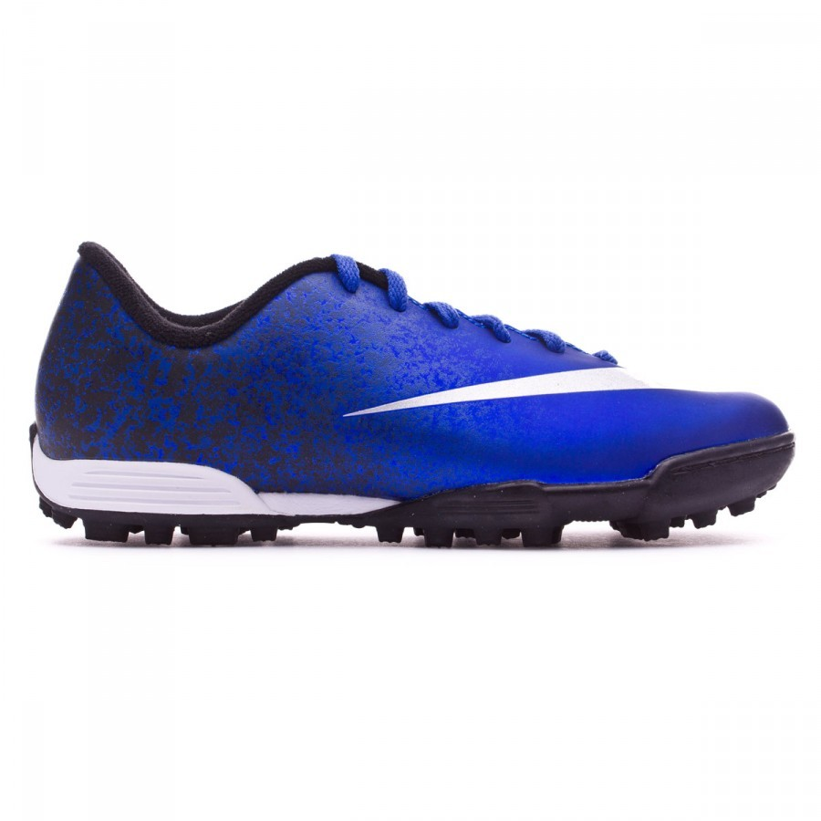fdfa0f64f4c1a Bota de fútbol Nike Mercurial Vortex II CR Turf Niño Royal blue-Metallic  silver-Black - Tienda de fútbol Fútbol Emotion