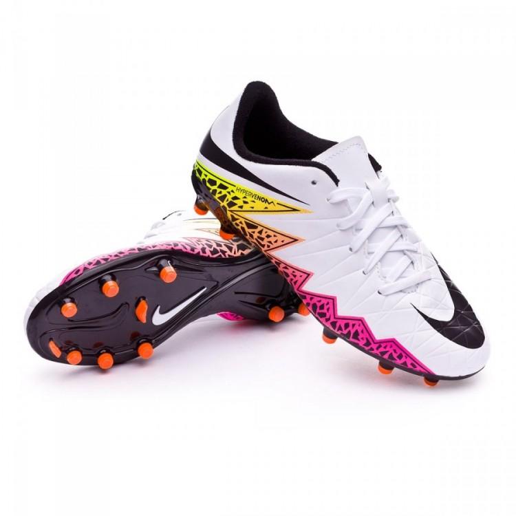 209522360 Football Boots Nike Jr HyperVenom Phelon II FG White-Total orange ...