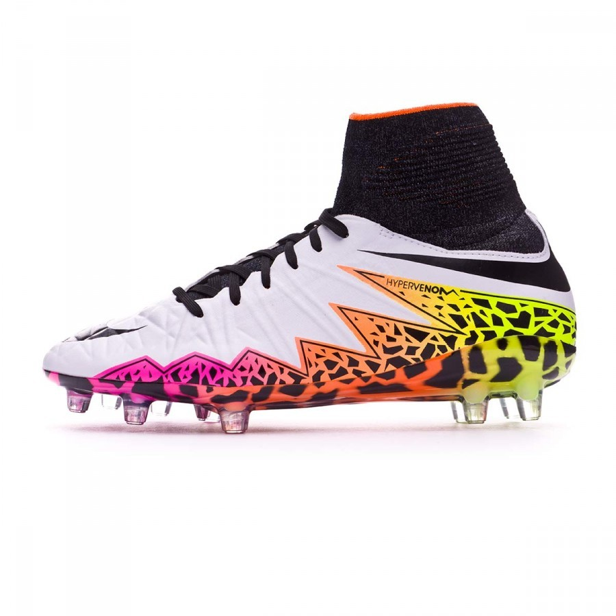 8b899be84739 Football Boots Nike Jr HyperVenom Phantom II ACC FG White-Total orange-Volt  - Football store Fútbol Emotion