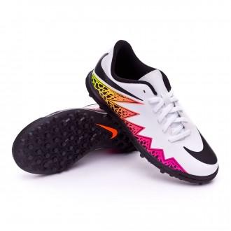 Bota  Nike jr HyperVenom Phade II TF White-Total orange-Volt