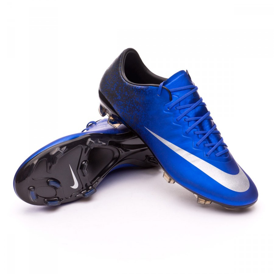 5208ad6b7 Football Boots Nike Mercurial Vapor X CR ACC FG Royal blue-Metallic ...