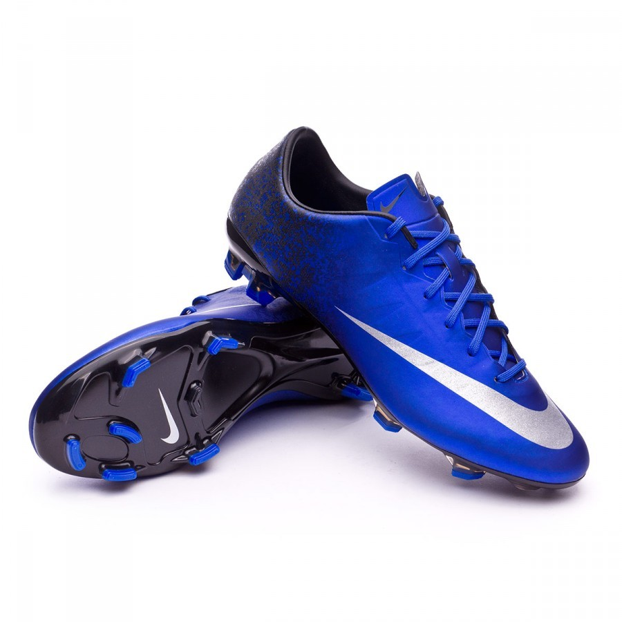 0702834e Football Boots Nike Mercurial Veloce II CR FG Royal blue-Metallic ...
