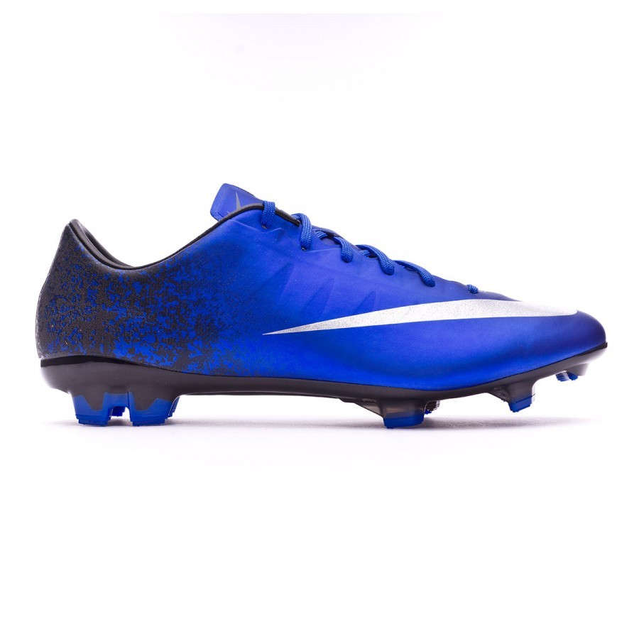1c67e863c75 Football Boots Nike Mercurial Veloce II CR FG Royal blue-Metallic silver-Black  - Football store Fútbol Emotion