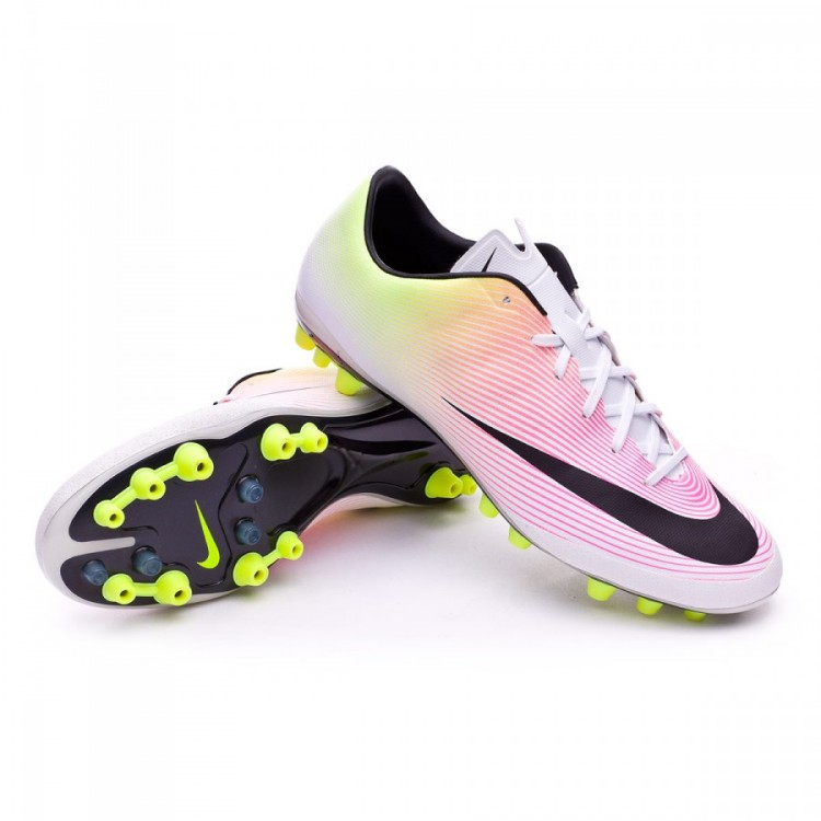9c3478638b0b Football Boots Nike Mercurial Veloce II AG-R White-Volt-Total orange ...