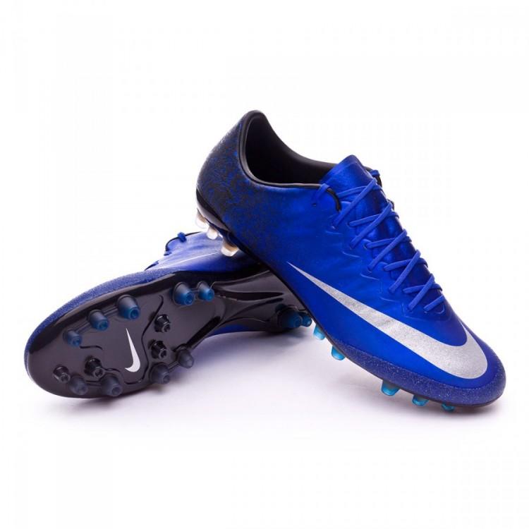 Boot Nike Mercurial Vapor X CR ACC AG-R Royal blue-Metallic silver ... 9247fe55cc9d0