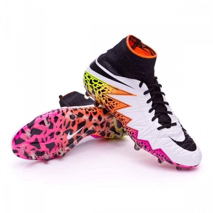 6722454bc400d Zapatos de fútbol Nike HyperVenom Phantom II ACC FG White-Total ...