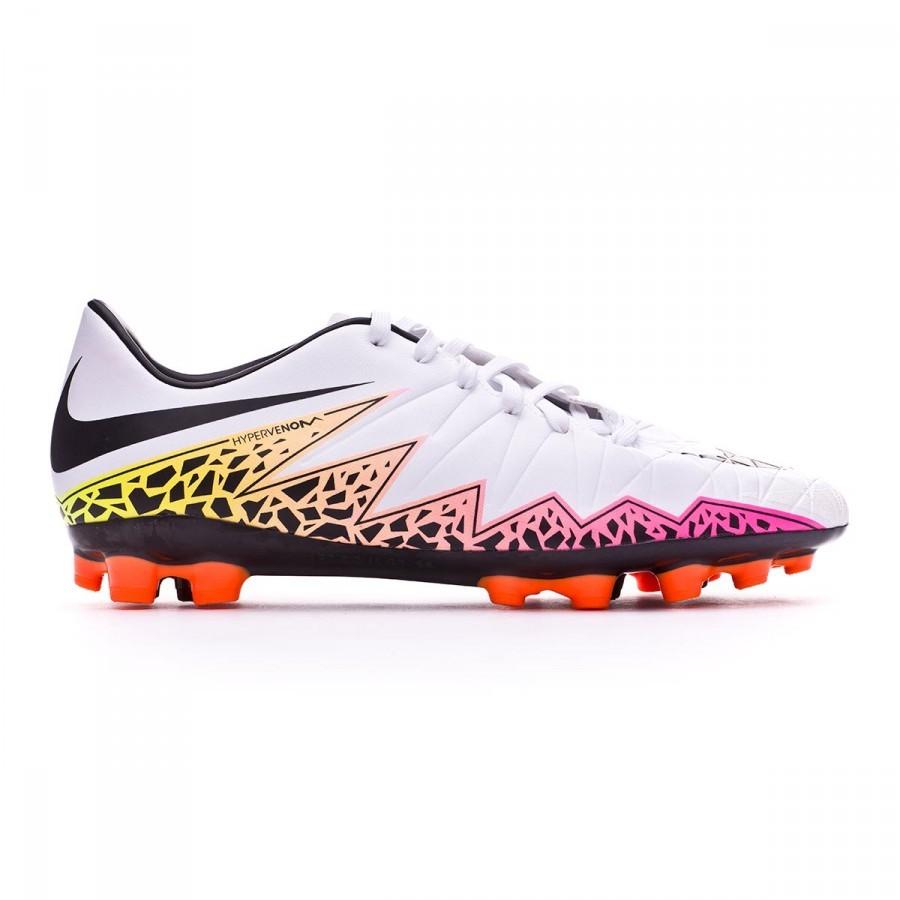 b4a787c8f9aa Football Boots Nike HyperVenom Phelon II AG-R White-Total orange-Volt -  Football store Fútbol Emotion