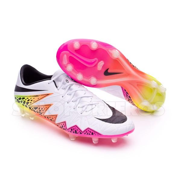 21701d35d7db23 Boot Nike HyperVenom Phinish II FG White-Total orange-Volt - Football store  Fútbol Emotion
