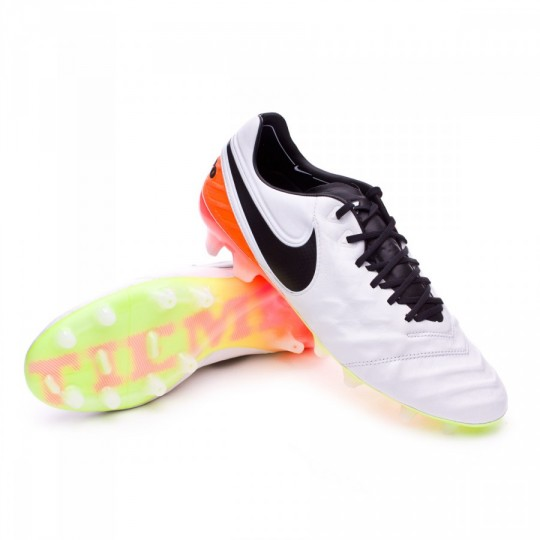 Chuteira  Nike Tiempo Legend 6 ACC FG White-Total orange-Volt